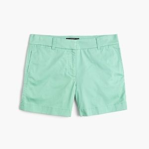 "J. Crew | 3"" Stretch Chino Shorts Spearmint 4"